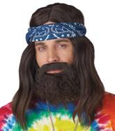 Борода и усы - Комплект парик,