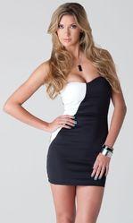 Клубные платья - Контрастное мини-платье