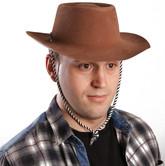 Ковбои и наездники - Коричневая шляпа с полями