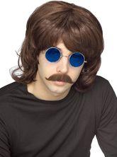 Ретро и Гангстеры - Коричневый мужской парик 70-х