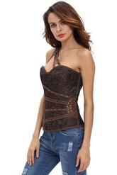 Женские костюмы - Коричневый стимпанк корсет