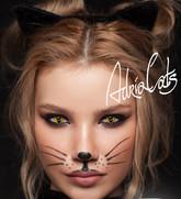 Ресницы и линзы - Кошачий глаз желтый