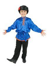 Русские народные - Косоворотка для детей синяя