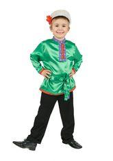 Русские народные - Косоворотка для детей зеленая