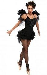 Судьи - Костюм Черной Балерины с крыльями