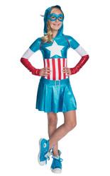 Супергерои и спасатели - Костюм девочки Капитана Америки