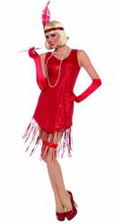 Стиляги - Костюм девушки из 20-х в красном