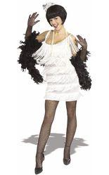 Ретро и Стиляги - Костюм девушки кабаре в белом