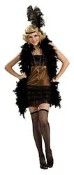 Ретро-костюмы 20-х годов - Костюм девушки кабаре в черном