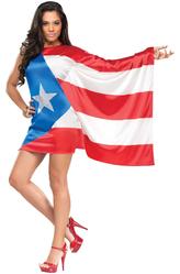 Национальные - Костюм Девушка-флаг Пуэрто-Рико