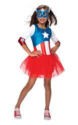 Супергерои и спасатели - Костюм Капитана Америка для девочки