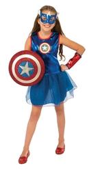 Супергерои и спасатели - Костюм Капитана Америки для девочки