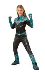 Супергерои и спасатели - Костюм Капитана Марвел для девочек делюкс