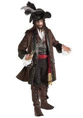 Пираты и разбойники - Костюм карибского пирата Deluxe