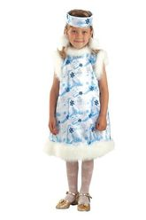 Новогодние костюмы - Костюм маленькой снежинки
