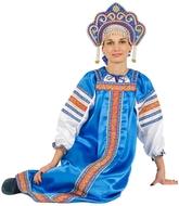 Русские народные костюмы - Костюм Марья синий для взрослых