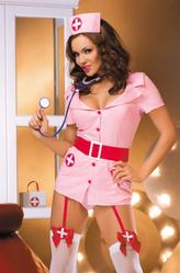 Медсестры - Костюм Медсестры-кокетки в розовом