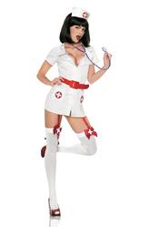 Медсестры - Костюм Медсестры с красным поясом