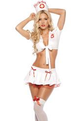 Медсестры - Костюм медсестры в кружевах