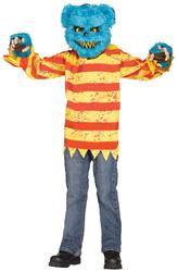 Страшные костюмы - Костюм Маленький мишка-киллер голубой