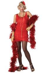 Ретро-костюмы 20-х годов - Костюм обаятельной Хлопушки красный