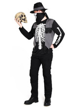 Костюм скелета ковбоя