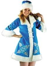 Новогодние костюмы - Костюм Снегурки с вышивкой