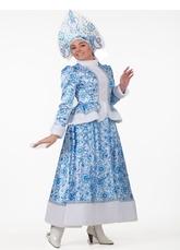 Женские костюмы - Костюм Снегурочки Гжель для взрослых
