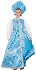 Женские костюмы - Костюм Снегурочки в бирюзовом платье