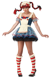 Смешные и Веселые - Костюм Кукла Пеппи длинный чулок