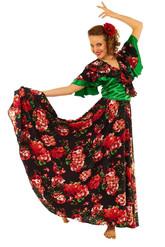 Цыганские костюмы - Костюм Цыганки в зеленом