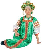 Русские народные костюмы - Костюм Варвара зеленый