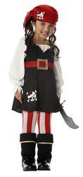 Пиратки - Костюм жизнерадостной пиратки детский