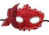Аксессуары - Красная бабочка с маской