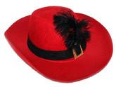 Исторические - Красная шляпа с черным пером