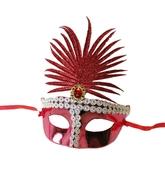 Венецианский карнавал - Красная сказочная маска
