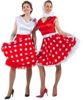 Ретро - Красно-белое платье в стиле 50-х