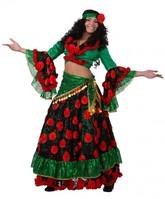 Цыганские костюмы - Красно-зеленый костюм цыганки