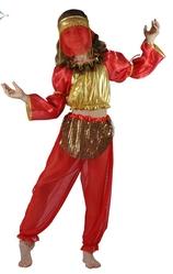 Арабские и восточные - Красно-золотой костюм восточной танцовщицы