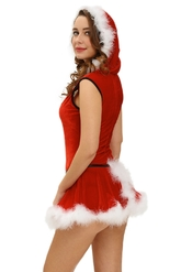 Санта - Красное платье подружки Санты