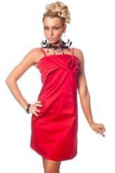Клубные платья - Красное платье с розочками
