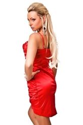 Клубные платья - Красное платье со складками