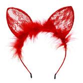 Кошки - Красные кружевные ушки