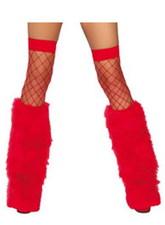 Санты и Снегурочки - Красные меховые накладки на сапоги