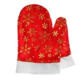 Дед Мороз - Красные варежки со снежинками