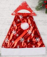 На Новый год - Красный колпак со снежинками