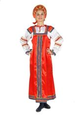 Русские народные костюмы - Красный костюм Машенька