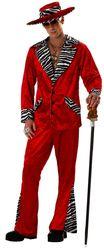 Ретро-костюмы 70-х годов - Красный костюм сутенера