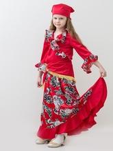 Национальные - Красный костюм цыганочки