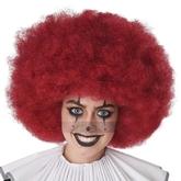 Клоунессы - Красный кудрявый парик клоуна